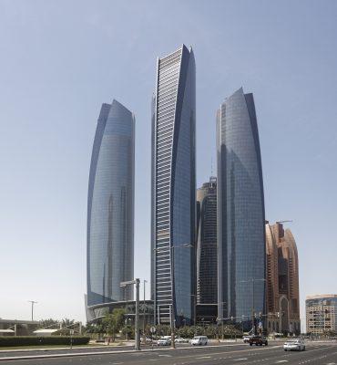 UAE, United Arabian Emirates, Vereinigte Arabische Emirate, VAE, Abu Dhabi, Etihad Towers;